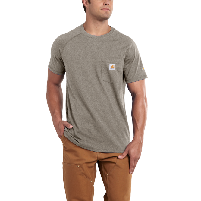 Carhartt Force Cotton Delmont Short‐Sleeve T‐Shirt, 100410 Moss