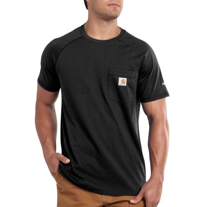 Carhartt Force Cotton Delmont Short‐Sleeve T‐Shirt, 100410 Black Option