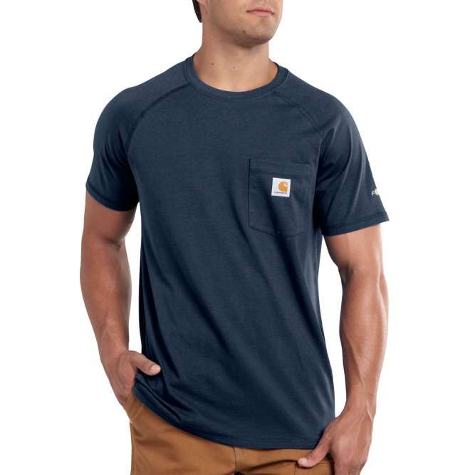 Carhartt Force Cotton Delmont Short‐Sleeve T‐Shirt, 100410 Navy Option