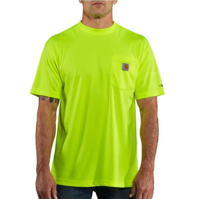 Carhartt Force Color Enhanced Short Sleeve T‐Shirt, 100493 Brite Lime Option