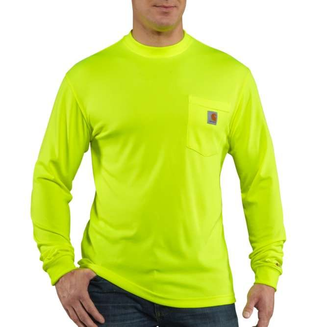 Carhartt Force Color Enhanced Long Sleeve T‐Shirt, 100494 Brite Lime Option