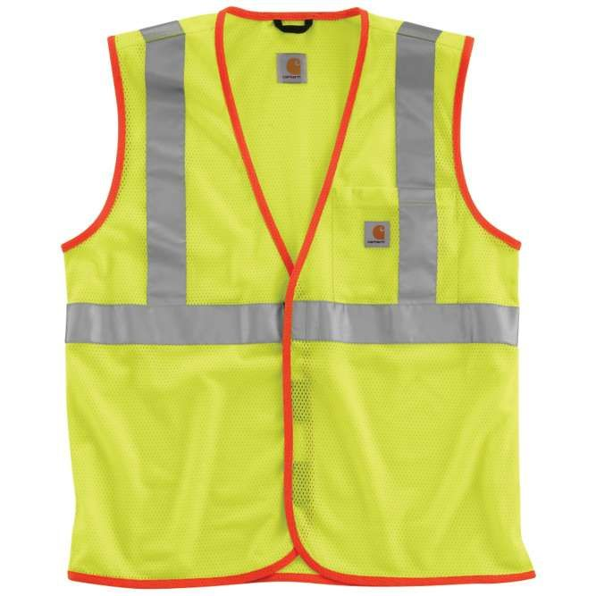 Carhartt High Visibility Class 2 Vest, 100501 Brite Lime