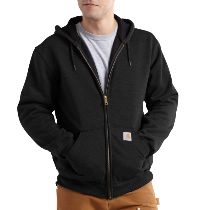 Carhartt Rain Defender Rutland Lined Zip‐Front Sweatshirt, 100632 Black Option