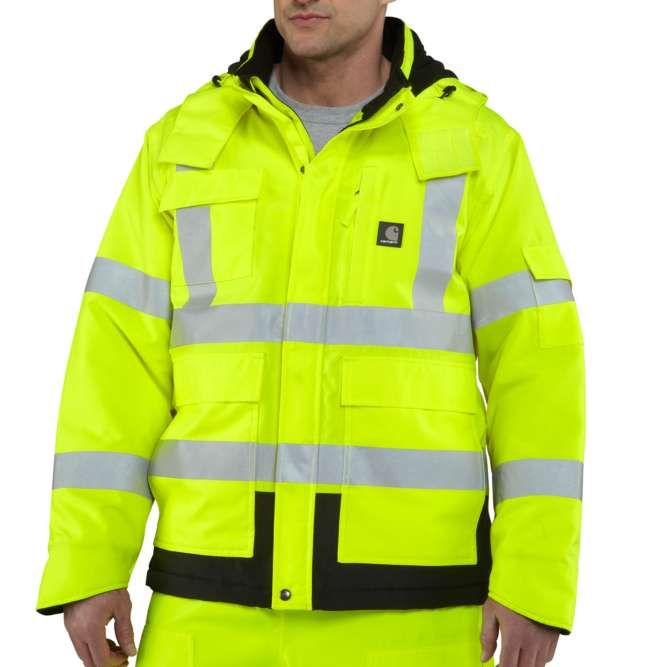 Carhartt High Visibility Class 3 Sherwood Jacket, 100787 Brite Lime
