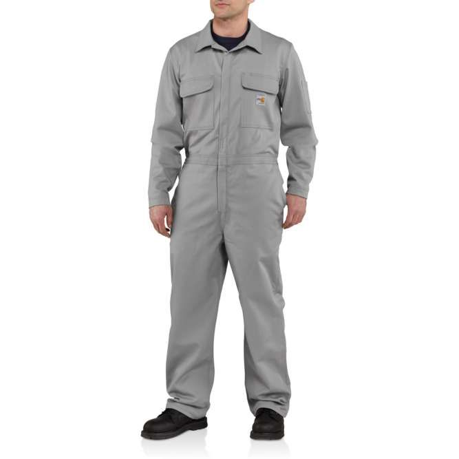 Carhartt Flame Resistant Traditional Twill Coveralls, 101017 Gray Option
