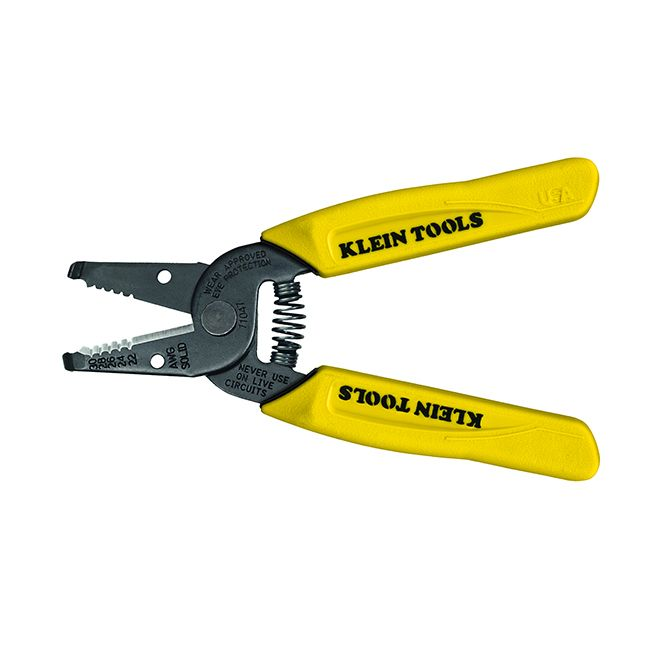 Klein Tools Wire Stripper/Cutter, 22-30 AWG Solid Wire, 11047