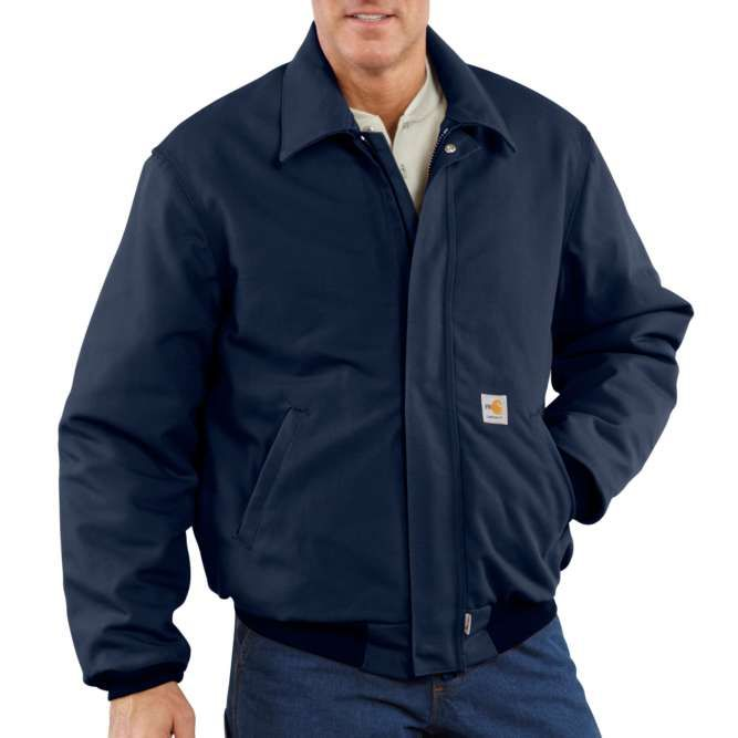 Carhartt Flame Resistant Duck Quilt Lined Bomber Jacket, 101623 Dark Navy Option