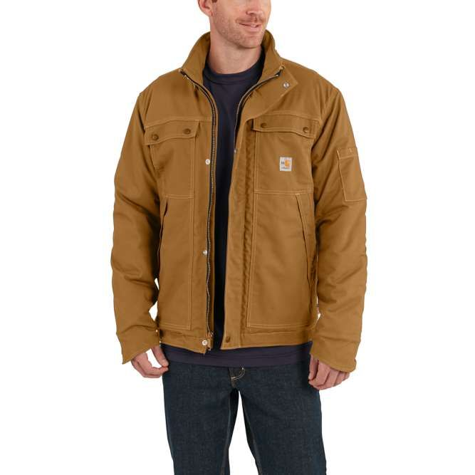 Carhartt Full Swing Quick Duck Flame Resistant Coat, 102182 Carhartt Brown