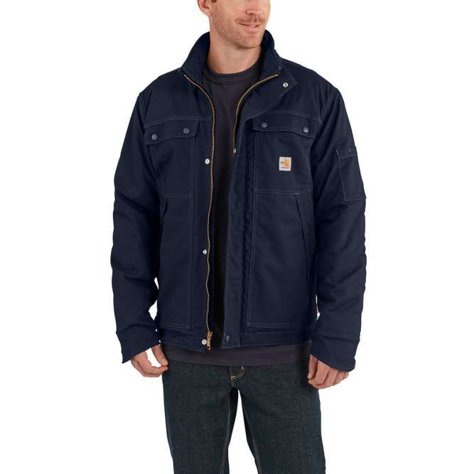 Carhartt Full Swing Quick Duck Flame Resistant Coat, 102182 Dark Navy Option