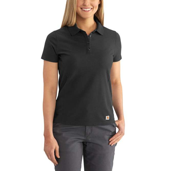 Carhartt Ladies Contractor's Short Sleeve Work Polo, 102460 Black