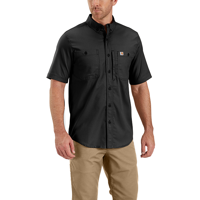 Carhartt Rugged Professional Series Men's Short Sleeve Shirt, 102537 Black Option