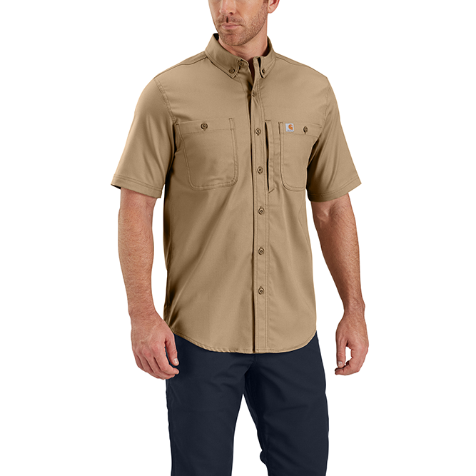 Carhartt Rugged Professional Series Men's Short Sleeve Shirt, 102537 Dark Khaki