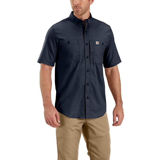 Carhartt Rugged Professional Series Men's Short Sleeve Shirt, 102537 Navy