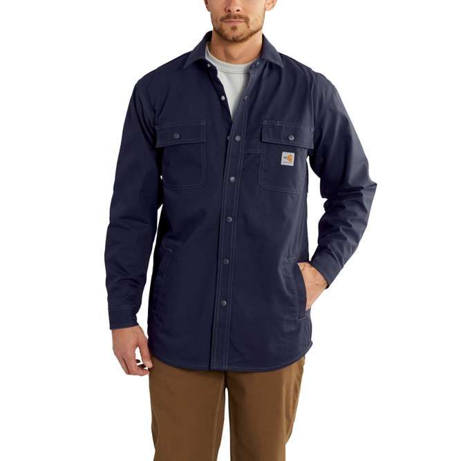 Carhartt Flame Resistant Full Swing Quick Duck® Shirt Jac, 102682 Dark Navy