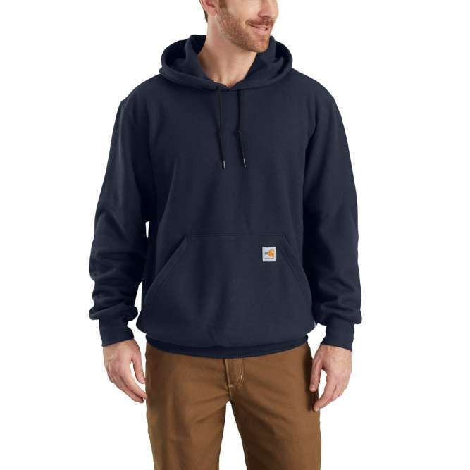 Carhartt Flame Resistant Rain Defender Hooded Heavyweight Sweatshirt, 102907 Dark Navy