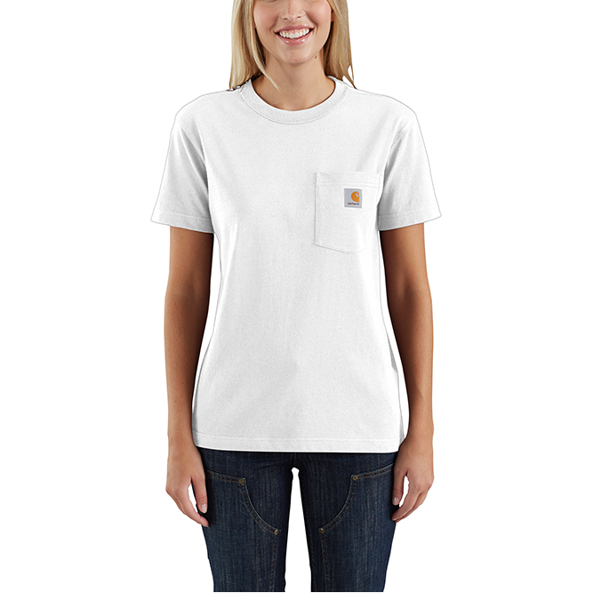 Carhartt Ladies Workwear Pocket T‐Shirt, 103067 White