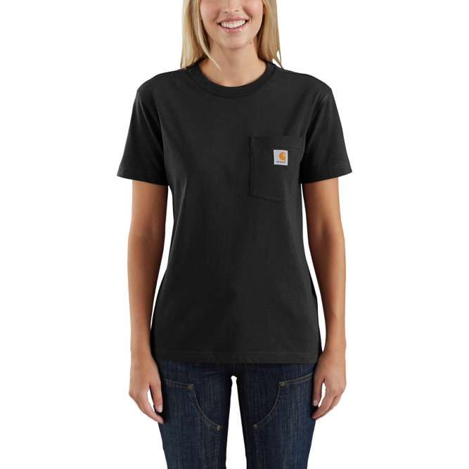 Carhartt Ladies Workwear Pocket T‐Shirt, 103067 Black Option