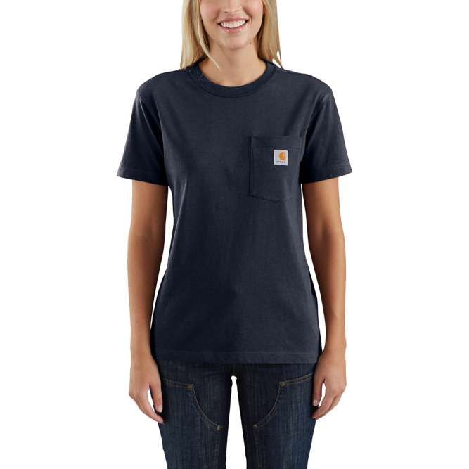 Carhartt Ladies Workwear Pocket T‐Shirt, 103067 Navy