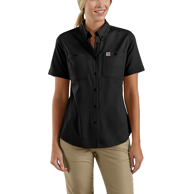 Carhartt Ladies Rugged Professional Series Short Sleeve Shirt, 103105 Black