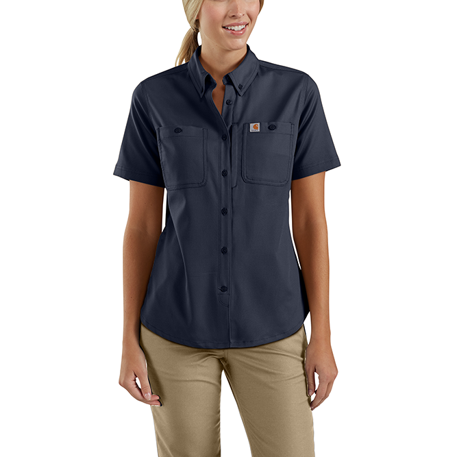 Carhartt Ladies Rugged Professional Series Short Sleeve Shirt, 103105 Navy