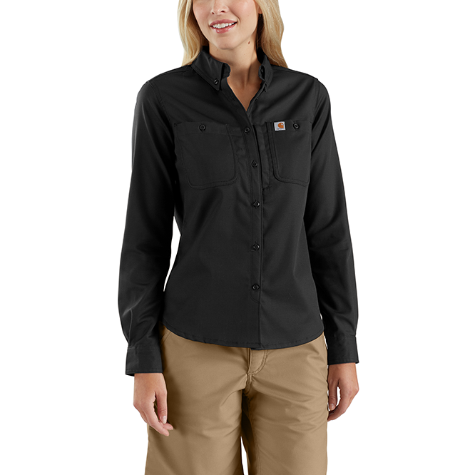 Carhartt Ladies Rugged Professional Series Long Sleeve Shirt, 103106 Black Option
