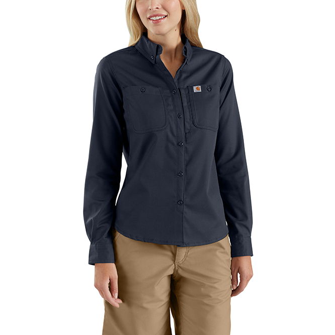 Carhartt Ladies Rugged Professional Series Long Sleeve Shirt, 103106 Navy
