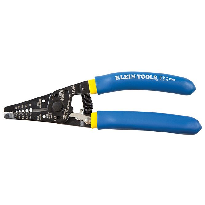 Klein Tools Solid and Stranded Copper Wire Stripper and Cutter, 11055