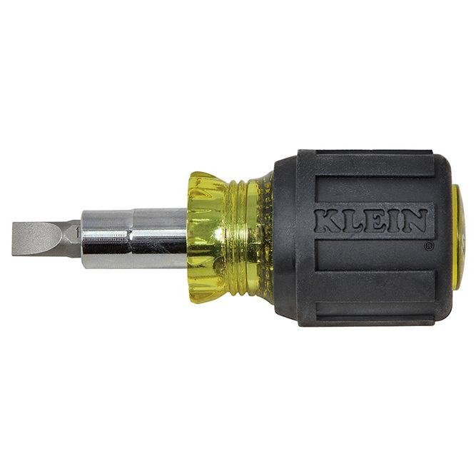 Klein Tools Stubby Multi‐Bit Screwdriver/Nut Driver, 32561