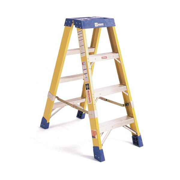 Bauer 4 foot Fiberglass Two-way Stepladder Type IAA 375 lb Rated, 35204