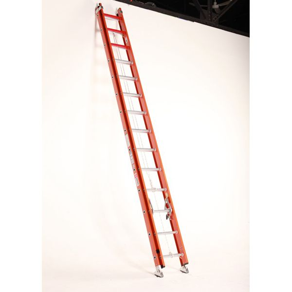 Bauer 28 foot FiberLite Extension Ladder with Cable Hook Combo Type IA 300 lb Rated, 38028