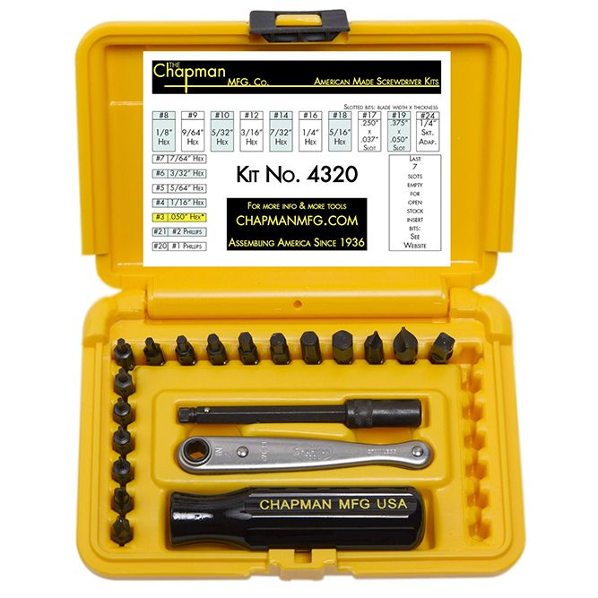 19 Piece Hex/Phillips/Slotted Precision Screwdriver Set, 3ZH35